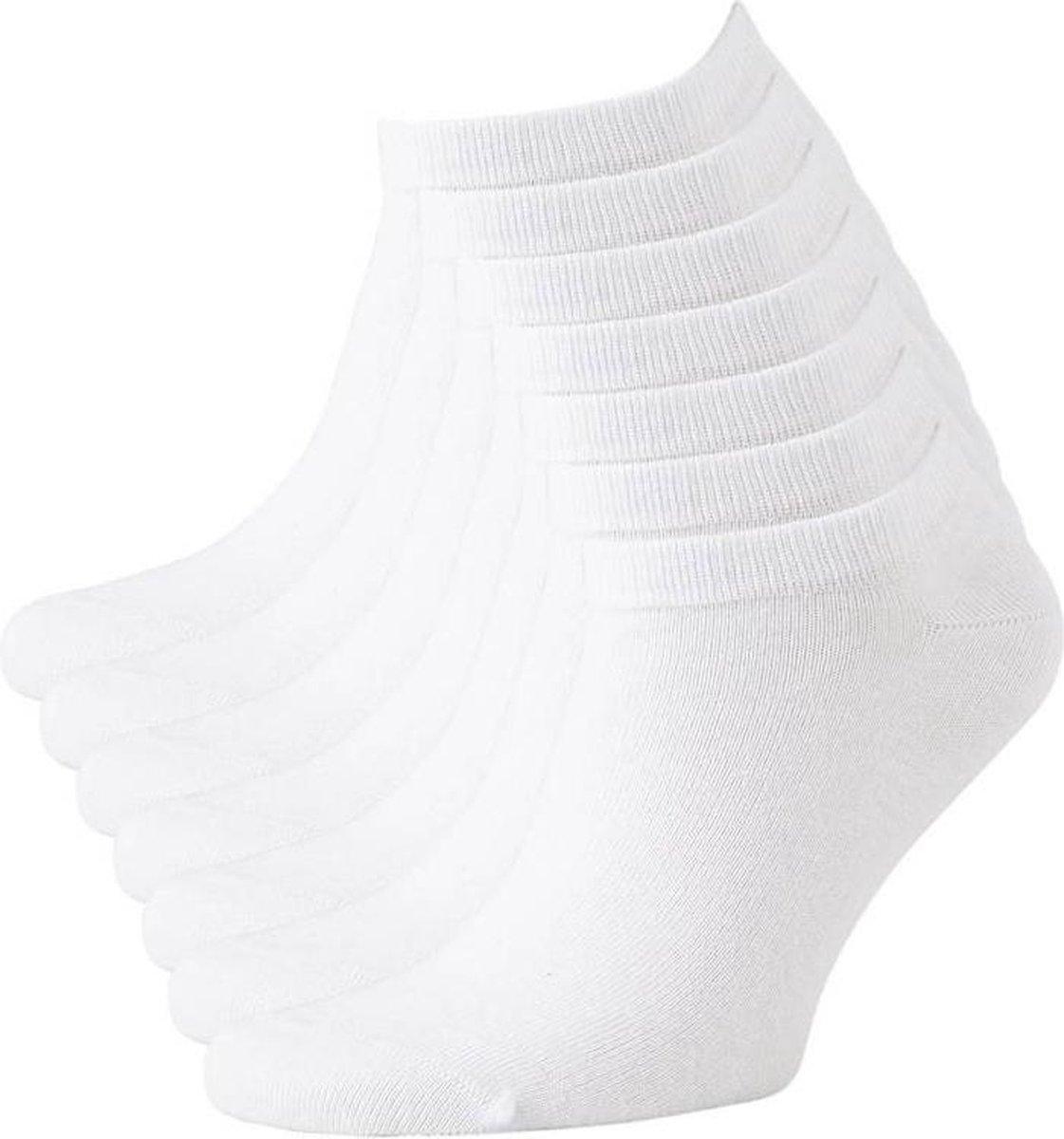 Sneaker Sokken - Enkel Sokjes - Wit - Maat 43-46 - 6 Pack