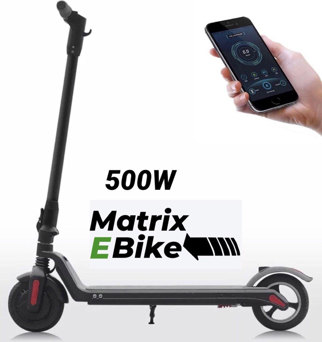 Matrix E Bike Pro FX8 - Maximale Snelheid 30km/h - 500 Watt Motor - Elektrische step - Zwart - IOS -