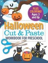 Halloween Cut and Paste Workbook for Preschool