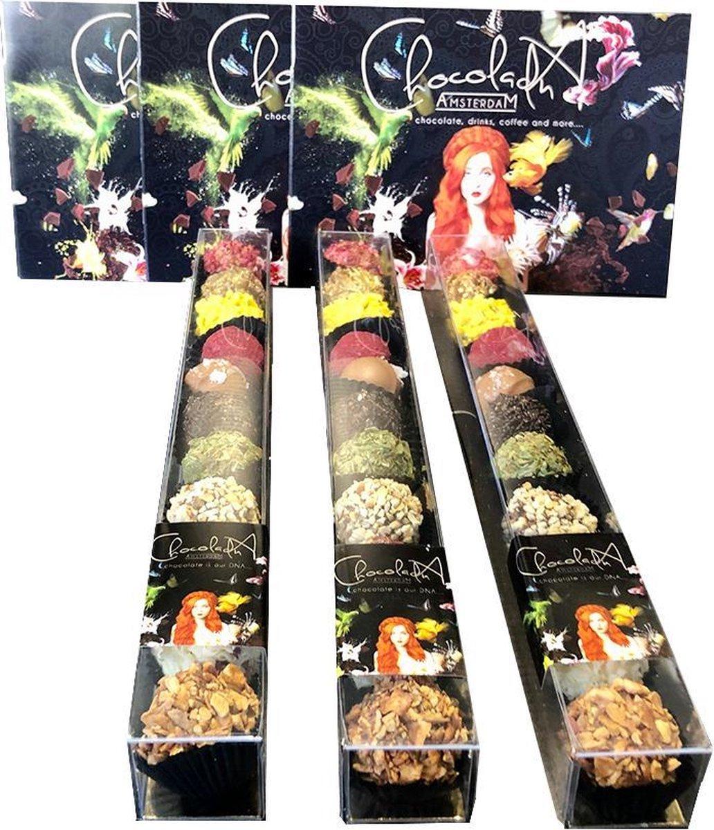 ChocolaDNA- chocoladevitrines met 11 handgemaakte bonbons- relatiegeschenk I cadeauset I cadeaubox I