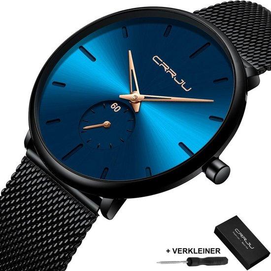 CRRJU® Horloges voor Mannen Vrouwen Herenhorloge Dameshorloge Heren Dames – Horloge Watch Jongens Meisjes – Horlogebox Geschenkdoos – Zwart Blauw Goud