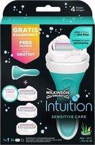 Wilkinson Sword Intuition Sensitive Set -  Houder & 3 mesjes