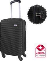 Handbagage koffer - TSA slot - Reiskoffer - Anti-diefstal - 35 L - 54 x 34 x 20 cm - Zwart