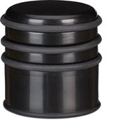 relaxdays deurstop - deurstopper - rubberen ring - deurbuffer - zwaar - kunststof zwart