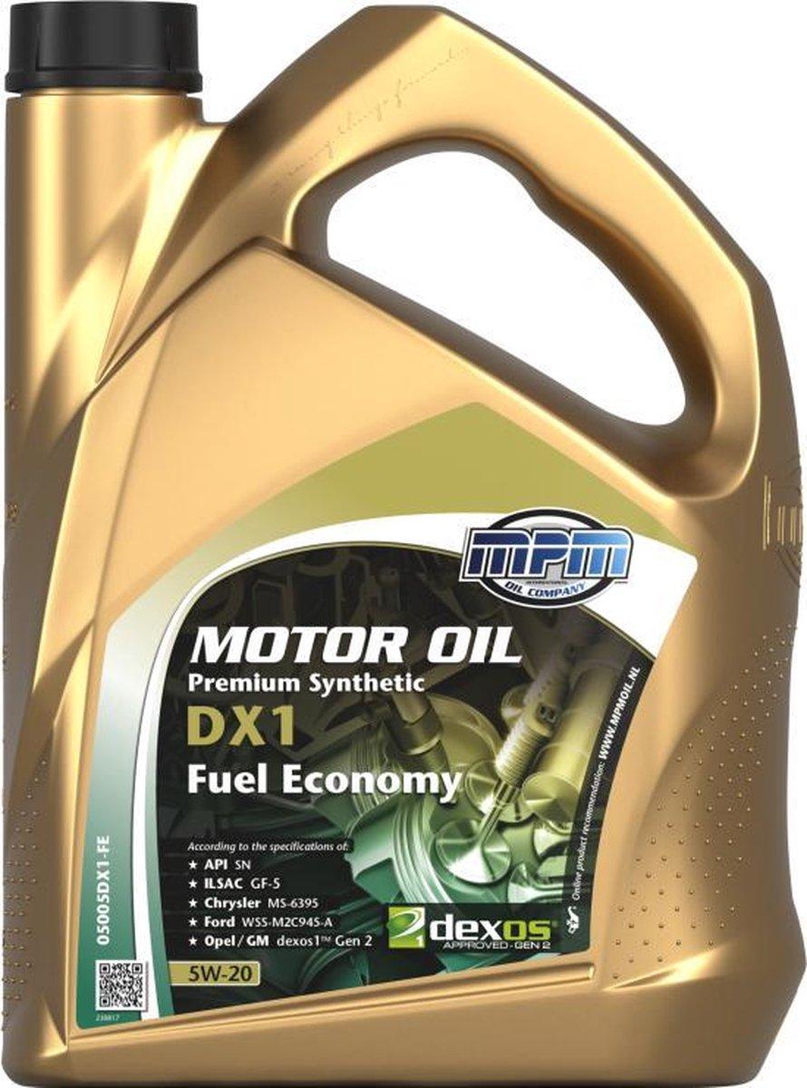 Motorolie 5w20 DX1-FE - 5 liter