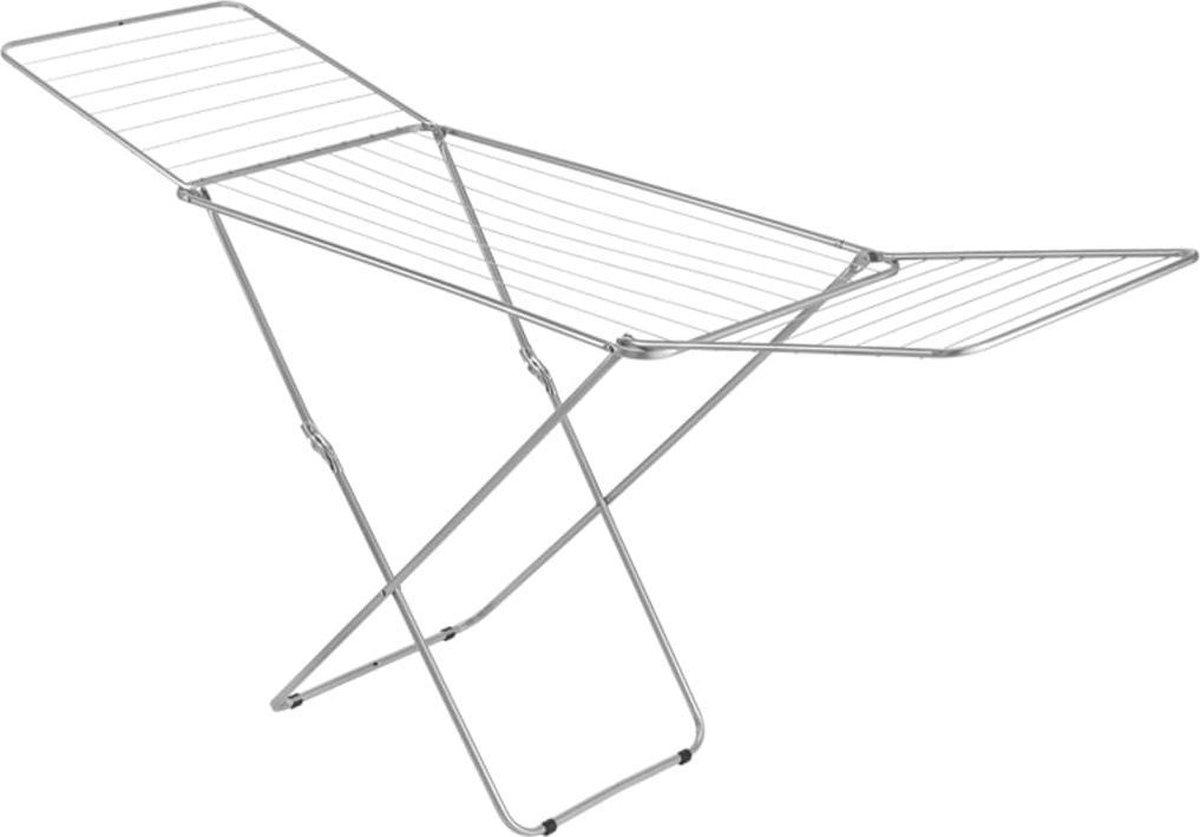 Metaltex Capri Droogrek - 20m Drooglengte - Inklapbaar - Zilvergrijs
