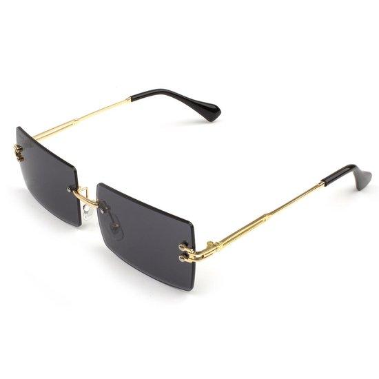 Trendy Zonnebril voor dames en heren - Goud/Zwart - UV400