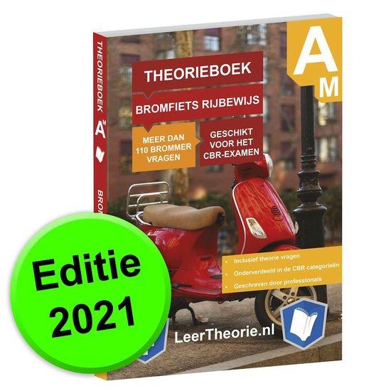 Boek cover ScooterTheorieboek 2021 - Nederland – Bromfiets Rijbewijs Am - ScooterTheorie Boek van LeerTheorie BV (Paperback)