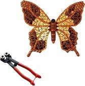 Mozaiek pakket Vlinder Bruin/Goud + mozaiektang