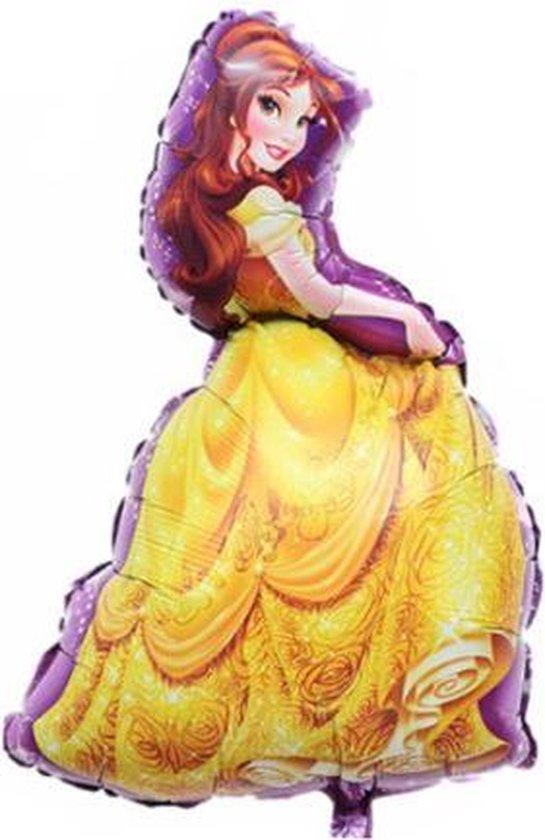 Belle Ballon - XL - 92 x 55 cm - Folieballon - Thema Verjaardag - Prinses - Belle en het Beest - Ballonnen - Versiering - Belle and the Beast - Disney
