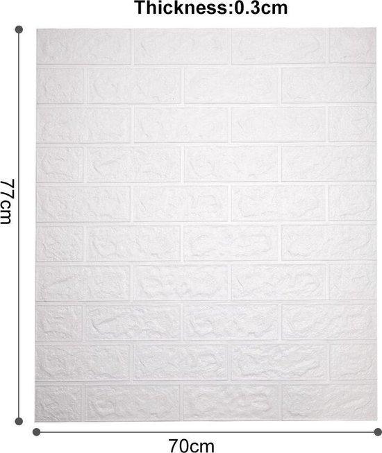Bol Com 3d Muurstickers Zelfklevende Stenen Muur Behang Decoratief Muurbehang Wit Stenen