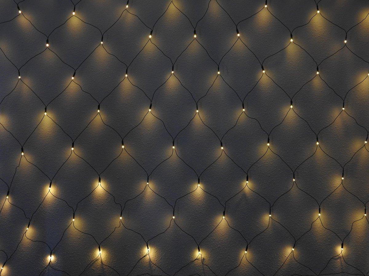 Sfeerverlichting 160 LED Gordijn - Voor Binnen & Buiten - Warm Wit - 320cm x 150cm - Kerstverlichtin