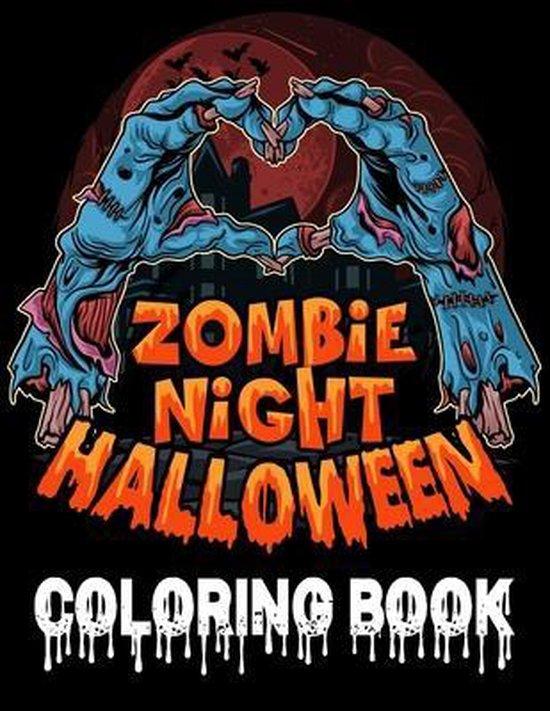 Zombie Night Halloween Coloring Book