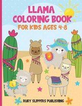 Llama Coloring Book For Kids Ages 4-8