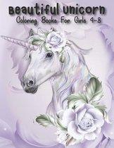 Beautiful Unicorn Coloring Books For Girls 4-8