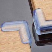 4 siliconen hoekbeschermers voor baby's en kleine kinderen - Voor hoeken van tafels, kasten, etc - Transparant