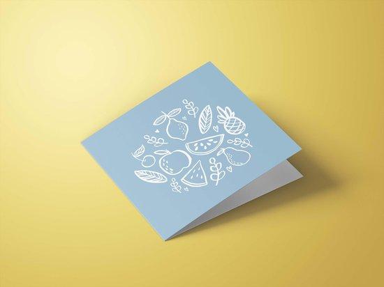 Wenskaarten beterschap/sterkte - set van 6 dubbele kaarten - inclusief enveloppen