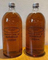 Vloeibare Marseille zeep, navulling 2 x 1000 ml Lavendel