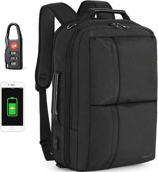 Tigernu Special II laptoptas - laptop rugzak - schoudertas - t/m 15,6 inch - zwart - professioneel