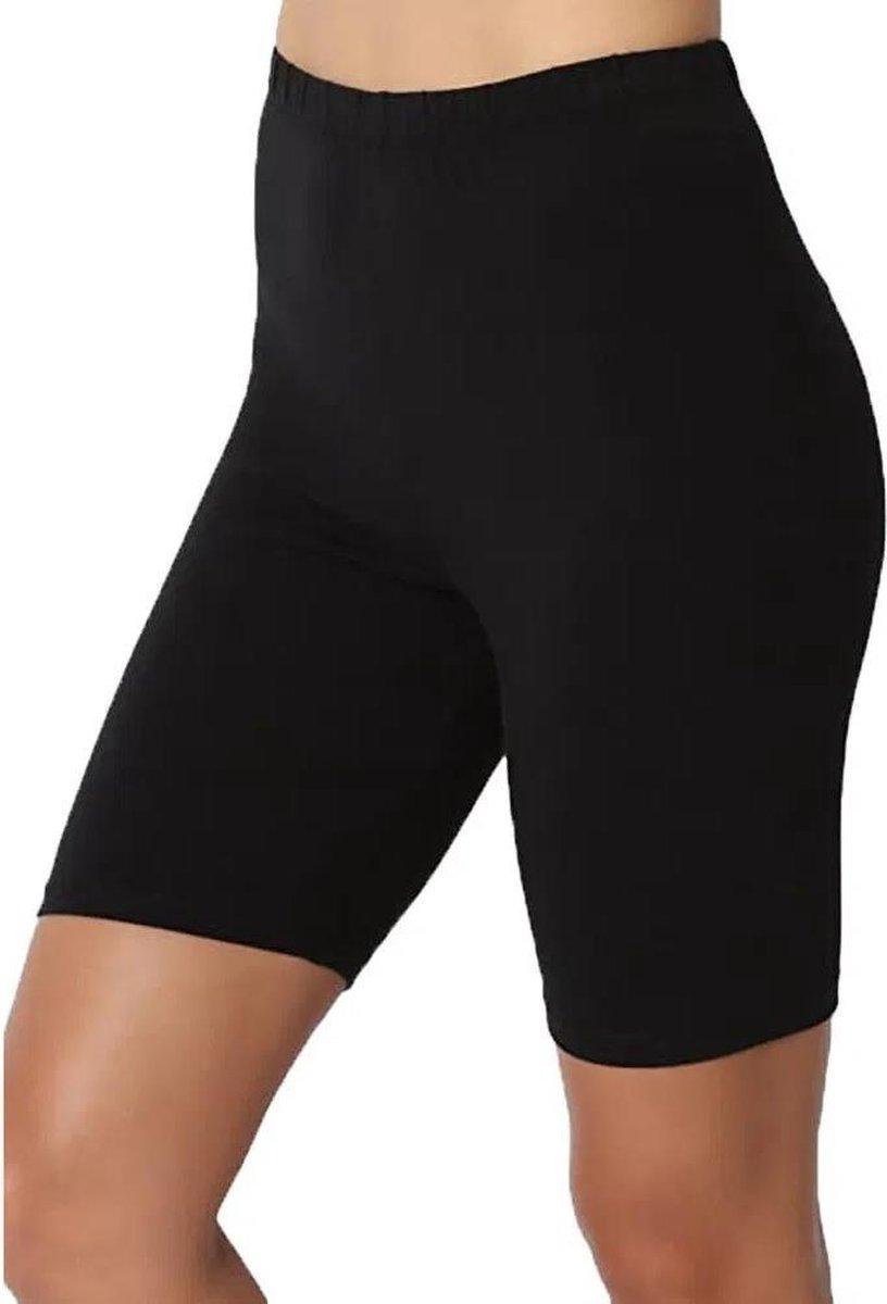 Hoogkwaliteit Dames Korte Legging / Short   Sport Legging   Zwart - XL