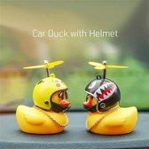 Auto Eendje Decoratie - Bad Eend - Auto En Fiets Decoratie - Met Kleefstrip, tandjes helm, propellor, zonnebril en gouden ketting