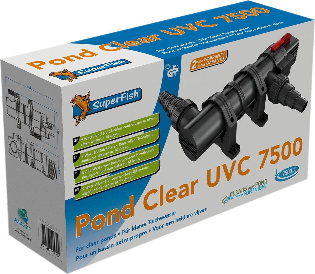 Superfish Pondclear - UVC 9 Watt - 7500 Liter