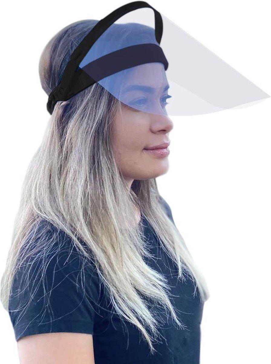 CURRVED - Opklapbare Faceshield Spatmasker - Anticondens - Zwart