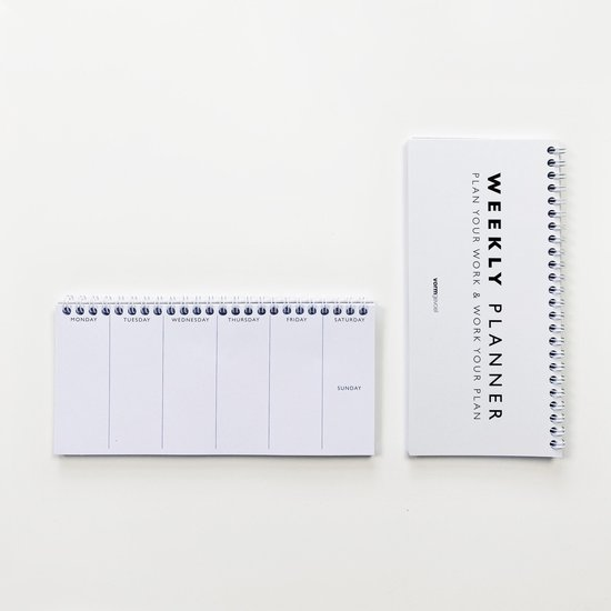 Weekly Planner small (10 x 21 cm)  | Planning  |  Weekplanner