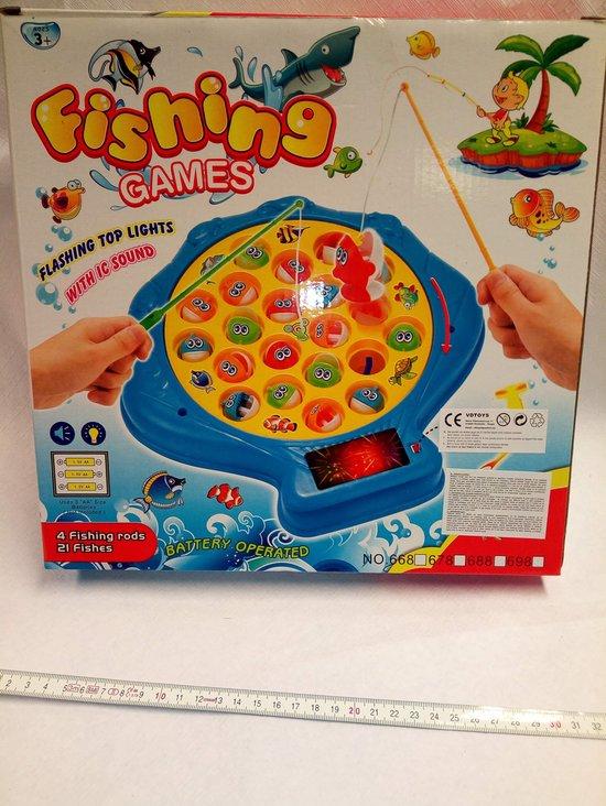 Afbeelding van het spel super hengelspel met leuke liedjes en 4 hengels