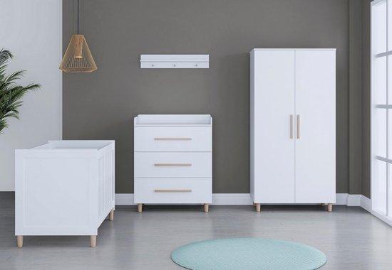 Product: Cabino - Babykamer - Stockholm - Babybed & Commode & Kledingkast - Verstelbare bodem, van het merk cabino
