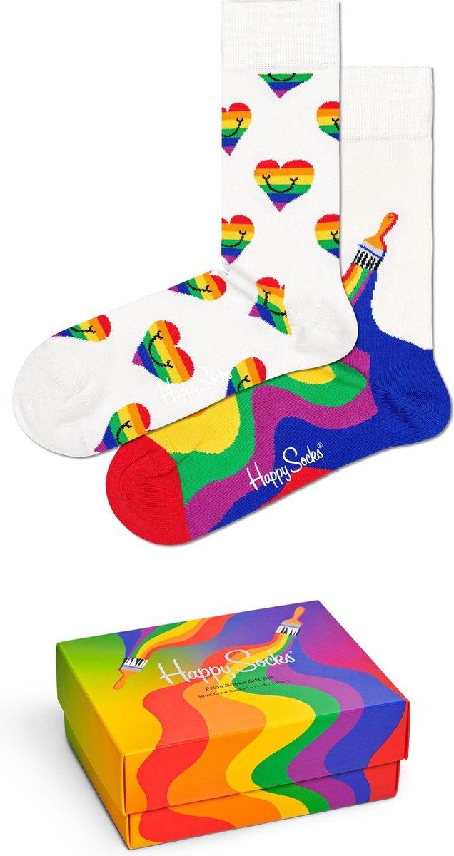 Happy Socks XPRI02-9300 Pride 2-pack Gift Box - Maat 41-46