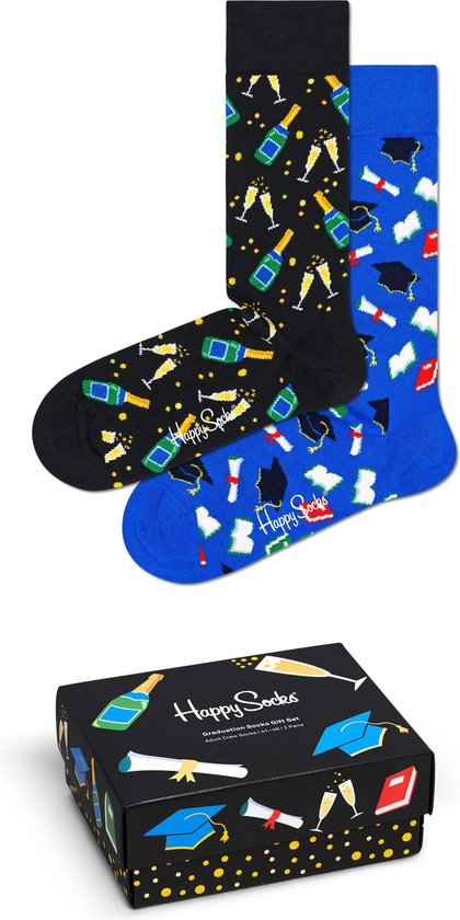 Happy Socks XGRA02-9300 Graduation 2-pack Gift Box - Maat 41-46