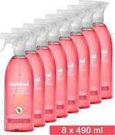 Method Allesreiniger Spray - Pink Grapefruit - Voordeelverpakking 8 x 490 ML