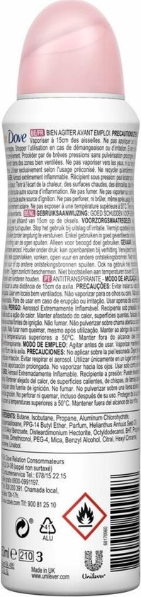 Dove Beauty Finish Anti-transpirant Deodorant - 6 x 150 ml - Voordeelverpakking
