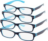 Etos Leesbril Donker Blauw +1.5 - 4 stuks