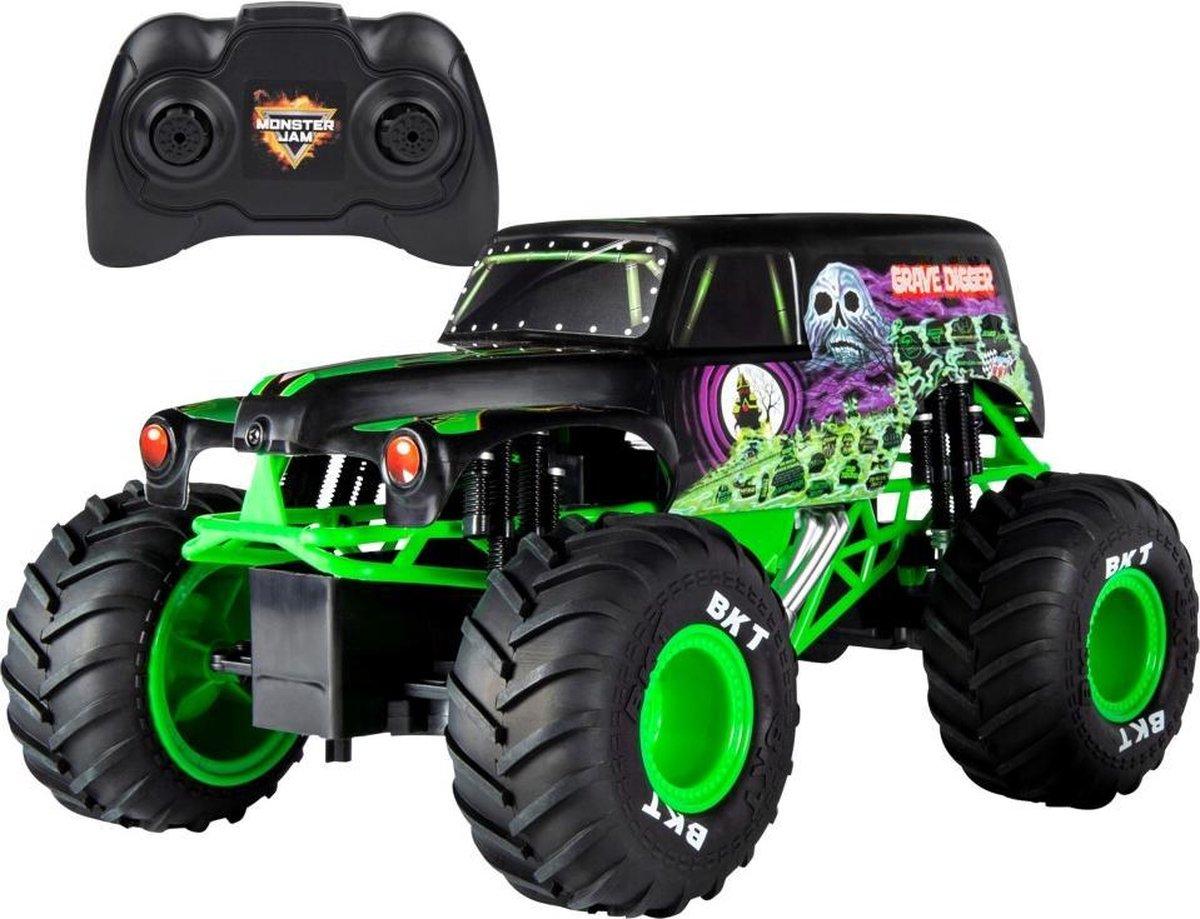 Monster Jam Monstertruck Gravedigger Rc Junior 1:15 Zwart/groen