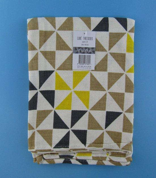 Theedoek -Theedoeken - 50x70 cm - Keukendoek - keukendoeken - hoofdkleur bruin -100% katoen - Budget