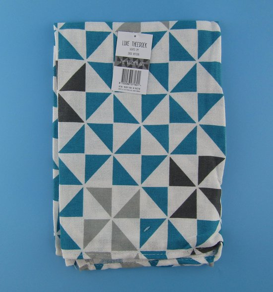 Theedoek -Theedoeken - 50x70 cm - Keukendoek - keukendoeken - hoofdkleur Blauw -100% katoen - Budget