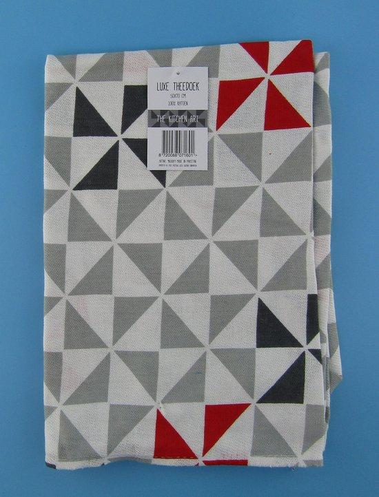 Theedoek -Theedoeken - 50x70 cm - Keukendoek - keukendoeken - hoofdkleur grijs -100% katoen - Budget