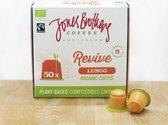 Nespresso cups van Jones Brothers Coffee composteerbare koffie cups /  capsules Lungo Revive  -  50 cups