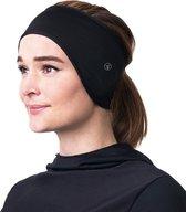 Fit Evolve® Oorwarmer Muts - Hoofdband Fleece - Sporthoofdband Haarband - Zwart