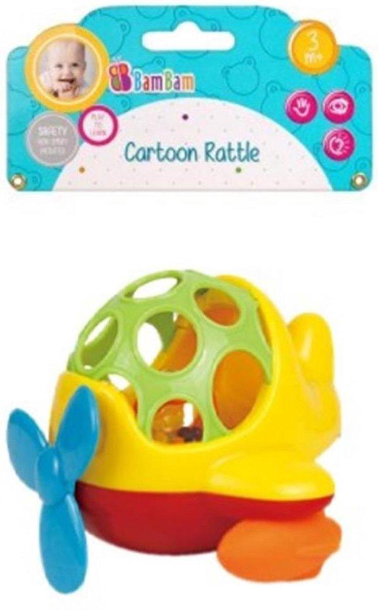 Bam Bam - Mini Helicopter Cartoon Baby Peuter speelgoed rammelaar - Bijtring Bijten