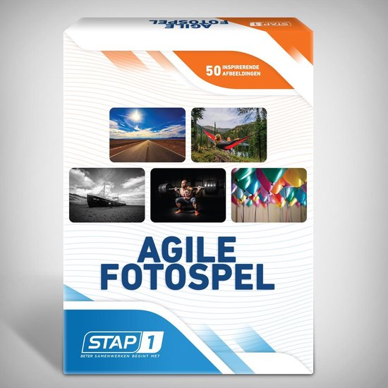 Afbeelding van het spel Stap1 Agile Fotospel - Associatiekaarten - 50 Foto's - Coachkaarten - Scrum - Kanban - Fotokaarten voor Training, Workshop en Retrospective