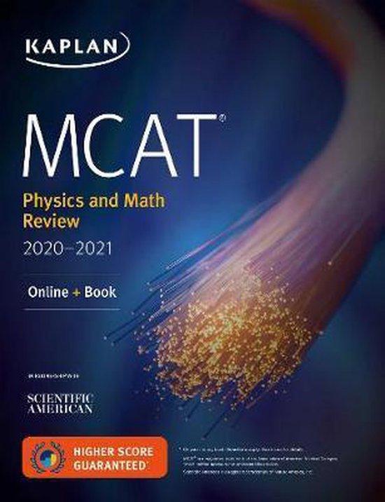 Boek cover MCAT Physics and Math Review 2020-2021 van Kaplan Test Prep