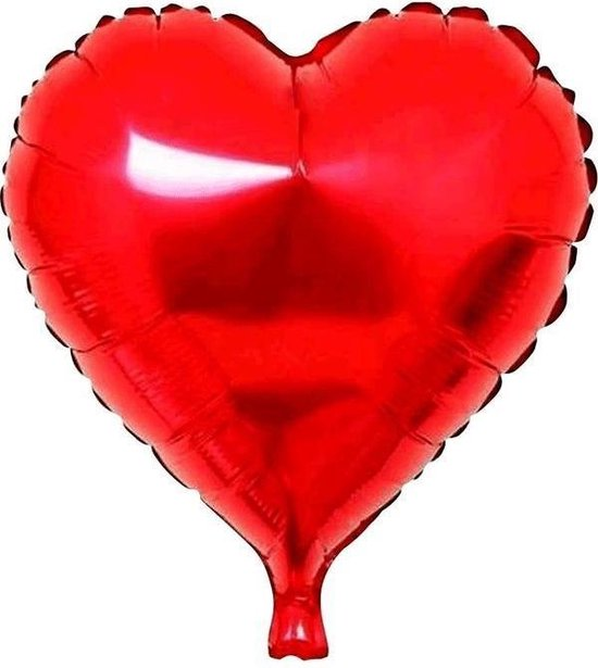 PartyXPlosion - Folieballon - Hart rood 45 cm - Zonder vulling