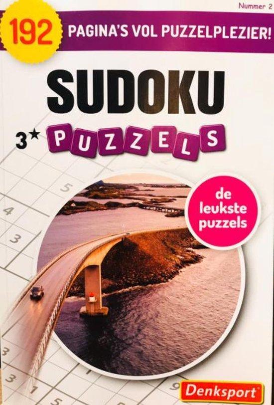 Afbeelding van Denksport | Puzzelboek | Denksport puzzelboekjes | Sudoku | Puzzelboekjes | Sudoku denksport | Sudoku denksport puzzelboeken volwassenen denksport | sudoko denksport | sudoku puzzelboek denksport | puzzels nederlands | 3* 192 puzzels extra dik!