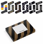 Happy Socks 6-pack Heren Maat 41-46 – Luxury Zwart/Goud editie – 6 paar Happy Socks + verpakking [VP-LUX-6pack-H]