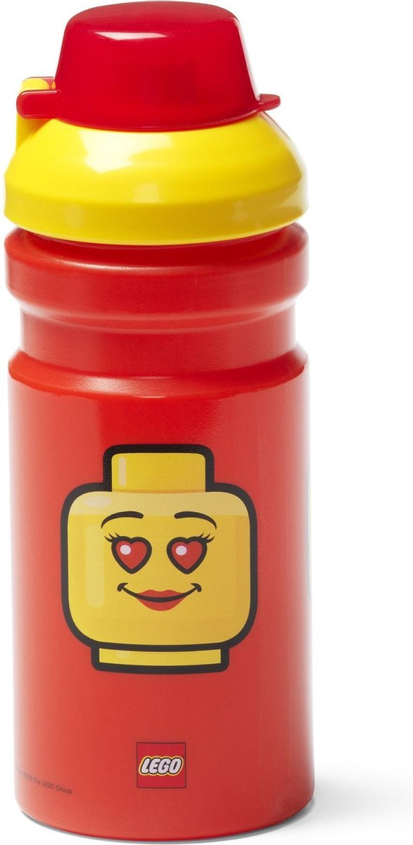 Drinkfles Iconic Girl 0.39 L, Rood - LEGO