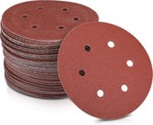 100 x klittenband schuurpapier rond voor schuurmachines - korrel 40-400 ø 150 mm slijpschijven set voor hout materialen
