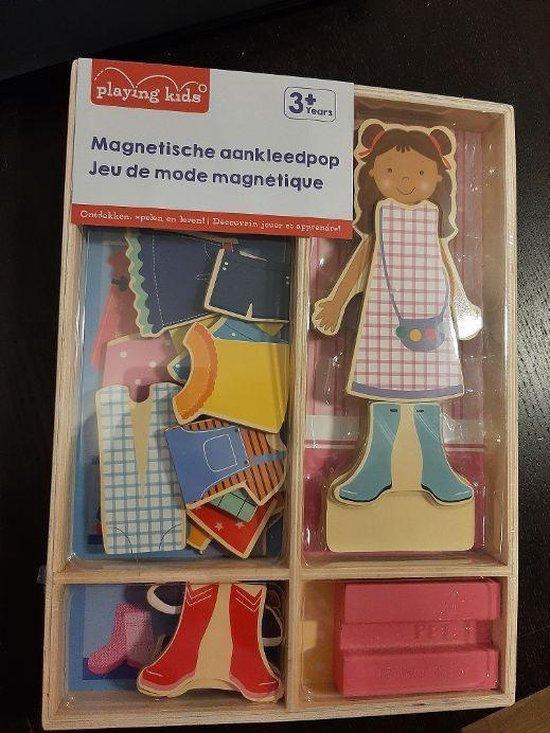 Afbeelding van het spel Playing Kids houten magnetische aankleedpop